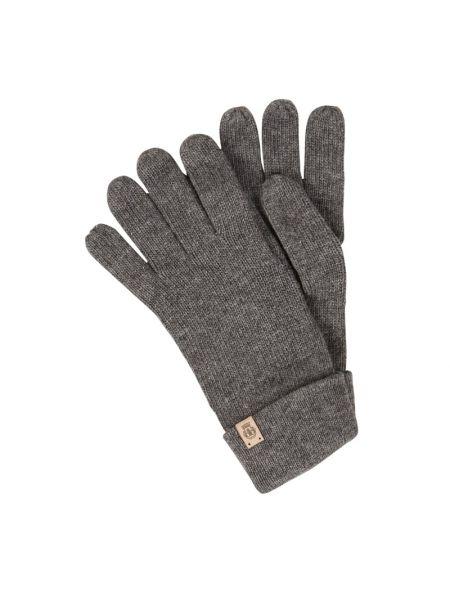 Prążkowane rękawiczki wełniane Roeckl