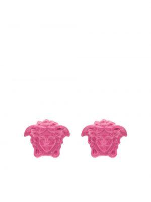 Różowe kolczyki sztyfty Versace