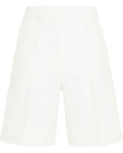 Хлопковые белые шорты с карманами Victoria Victoria Beckham