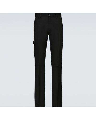 Czarne spodnie wełniane Berluti