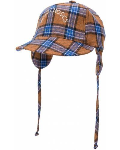 Niebieska czapka bawełniana z printem Bobo Choses