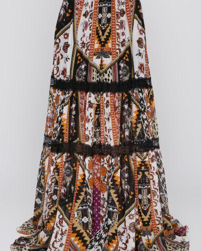 Шелковая юбка макси Roberto Cavalli