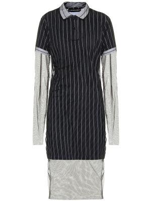 Платье миди из фатина в полоску Y Project