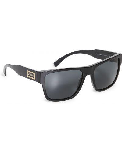 Мягкие черные солнцезащитные очки квадратные Versace