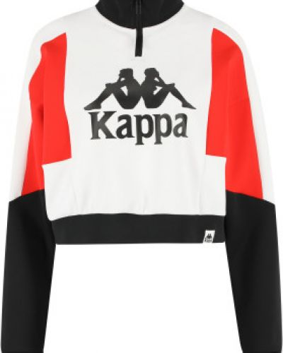 Толстовка на молнии - белая Kappa