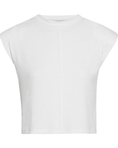 Biała koszulka z wiskozy Walter Baker