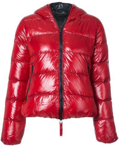 Куртка с капюшоном длинная дутая приталенная Duvetica