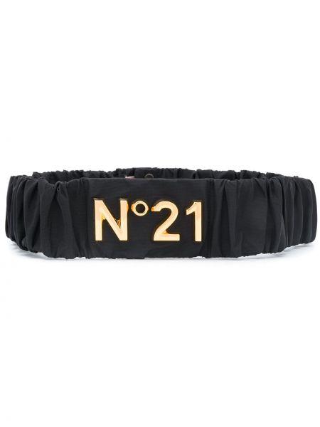 Золотистый черный ремень металлический N21