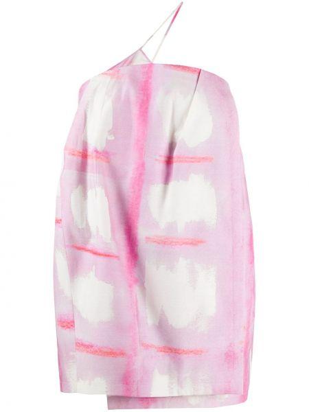 Шелковое платье мини - розовое Jacquemus