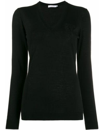 Черный джемпер с вырезом Versace Collection