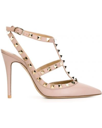 Туфли на высоком каблуке кожаные на шпильке Valentino