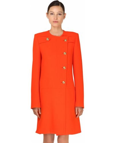 Оранжевая куртка с манжетами круглая с подкладкой Givenchy