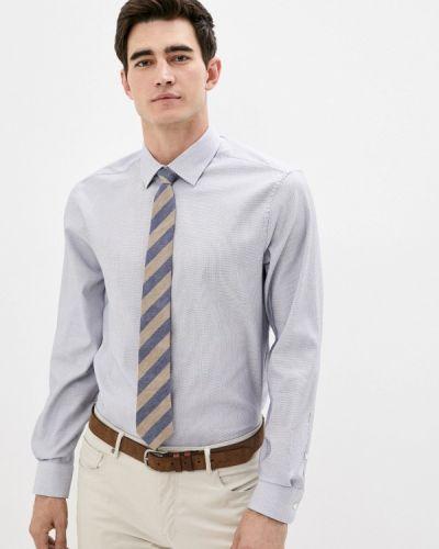 Синяя с рукавами рубашка Marks & Spencer