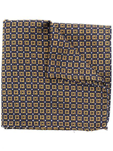 Żółty szalik z jedwabiu z printem Dsquared2