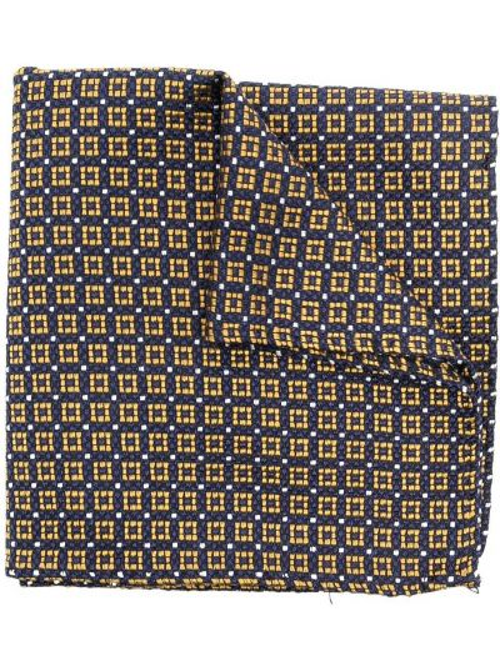 Желтый шелковый шарф квадратный Dsquared2