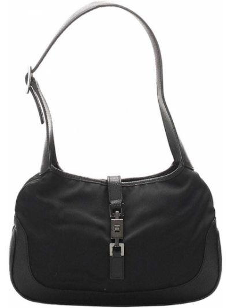 Парусиновая черная косметичка с карманами Gucci Pre-owned