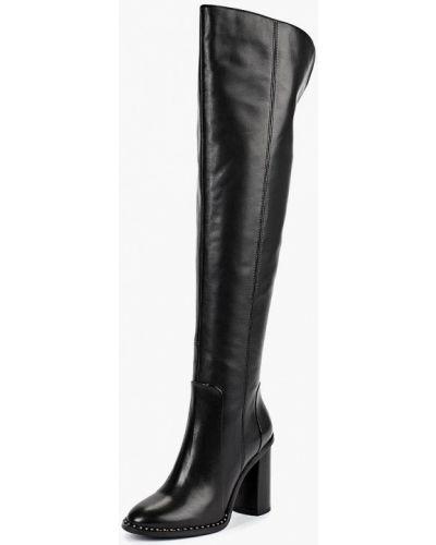 Ботфорты на каблуке кожаные Covani