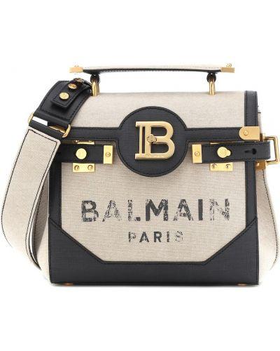 Włókienniczy beżowy torba na ramię Balmain