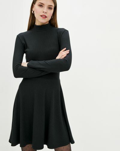 Платье в рубчик - черное Lilove