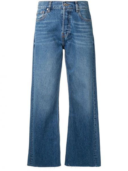Ватные хлопковые синие укороченные джинсы с карманами Iro
