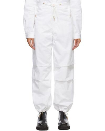 Белые брюки с карманами с манжетами Dion Lee