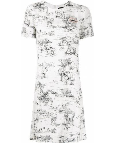 С рукавами белое платье мини с пайетками Markus Lupfer