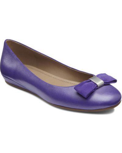 Балетки черные фиолетовый Ecco