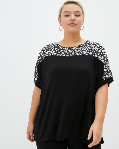 Черная блузка с короткими рукавами Evans