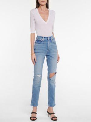 Niebieskie jeansy bawełniane Re/done