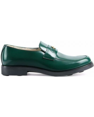 Loafers - zielone Gucci
