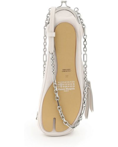 Biały łańcuszek casual materiałowy Maison Margiela