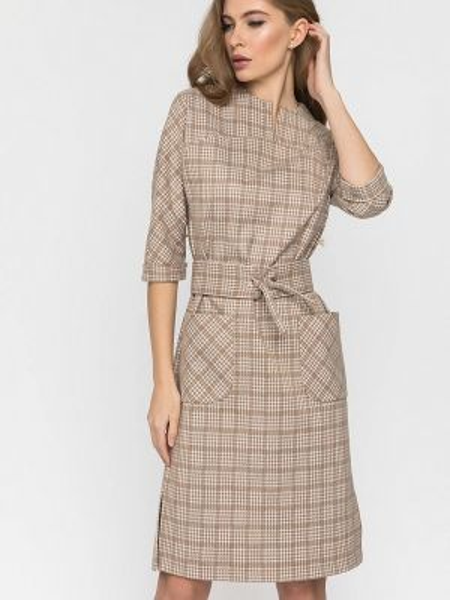 Бежевое платье Clever Woman Studio
