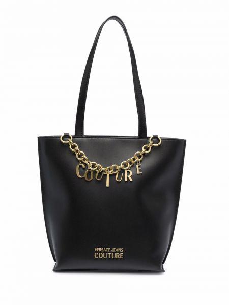 Czarny złoty łańcuszek Versace Jeans Couture