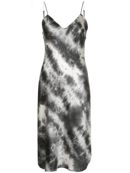 Шелковое серое платье миди Nili Lotan