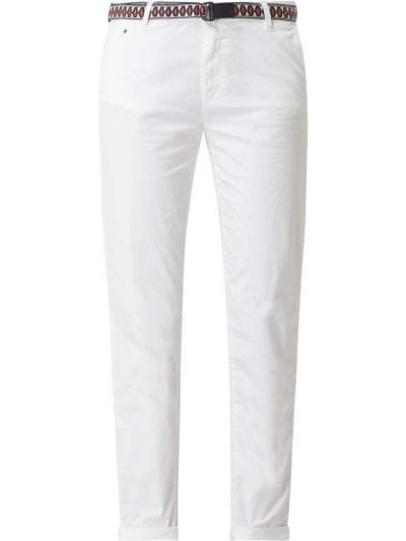 Bawełna bawełna biały chinosy z kieszeniami Esprit