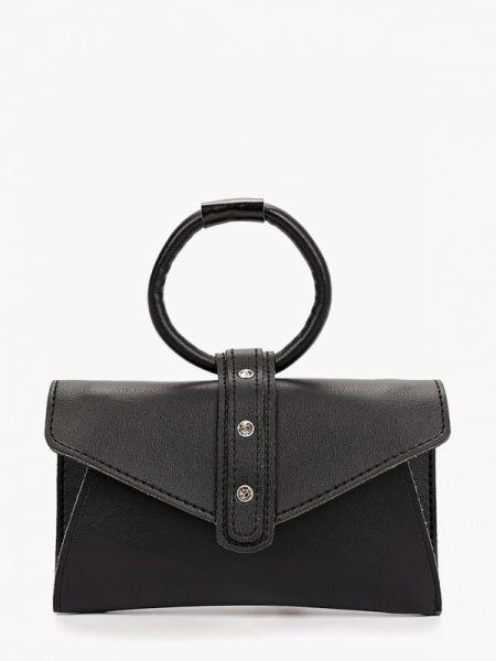 Черная поясная сумка с помпоном Bezko