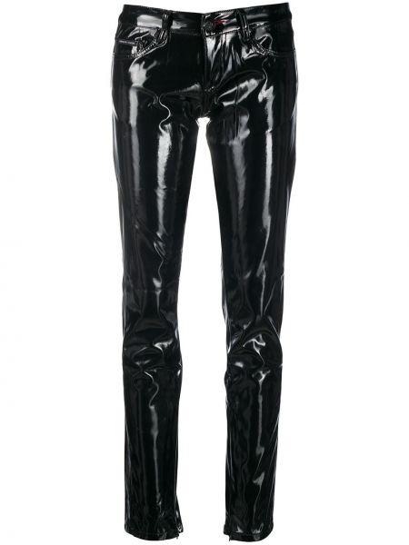 Bawełna klasyczny czarny klasyczne spodnie z paskiem Philipp Plein