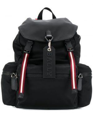 Нейлоновый черный рюкзак с карманами на молнии Bally