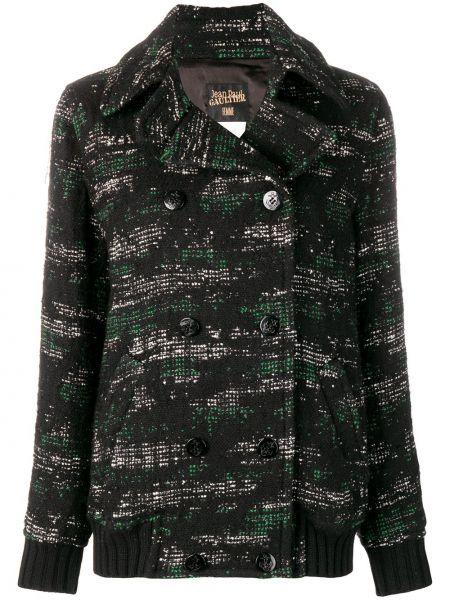 Черный пиджак винтажный букле двубортный Jean Paul Gaultier Pre-owned