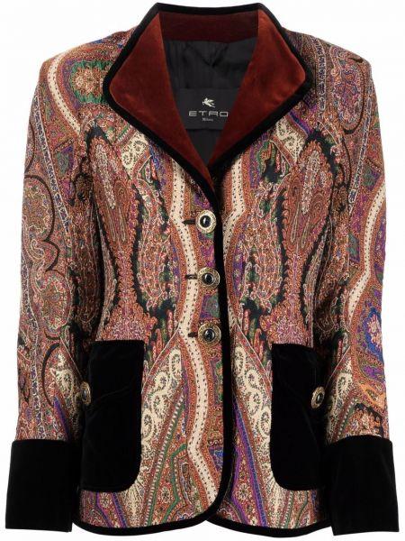 Бархатный пиджак - красный Etro