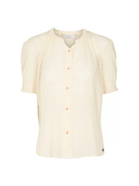 Оранжевая рубашка с коротким рукавом с вырезом с лебяжьим пухом с короткими рукавами NÜmph