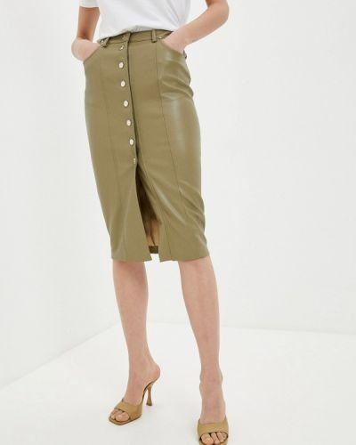 Зеленая кожаная юбка Love Republic