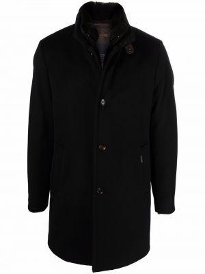 Шерстяное пальто - синее Moorer