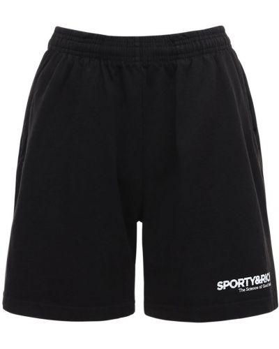 Czarne szorty bawełniane Sporty And Rich