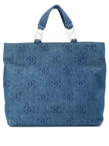 Сумка шоппер джинсовая на молнии Chanel Pre-owned