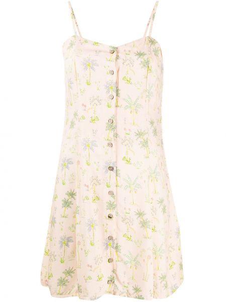 Sukienka mini w kwiaty z guzikami C'est La V.it