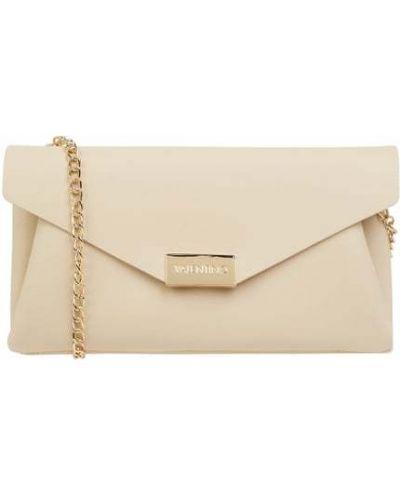 Złota kopertówka - biała Valentino Bags