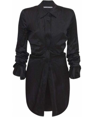 Satynowa czarna koszula Alexander Wang