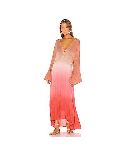 Платье розовое на пуговицах Young Fabulous & Broke