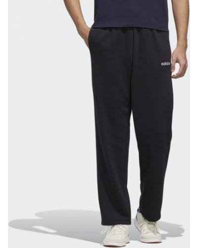 Флисовые спортивные черные спортивные брюки для фитнеса Adidas